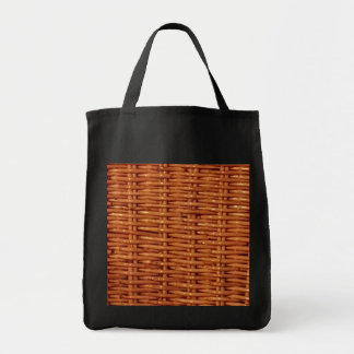 Rustic Brown Wicker Picnic Basket Country Style Tote Bag