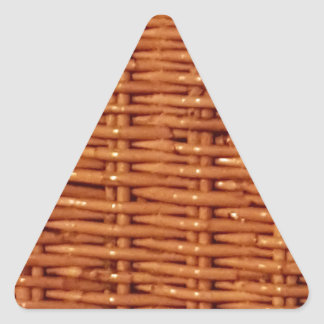 Rustic Brown Wicker Picnic Basket Country Style Triangle Sticker