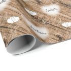 Rustic Brown Wood Wedding Designs Wrapping Paper