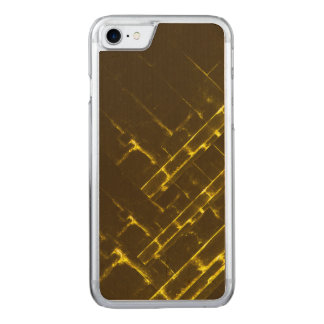 Rustic Brown Yellow Geometric Batik Weave Modern Carved iPhone 8/7 Case