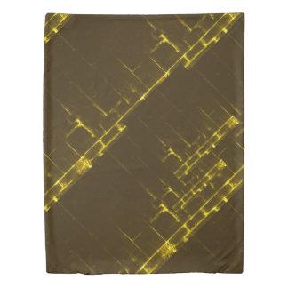 Rustic Brown Yellow Geometric Batik Weave Modern Duvet Cover