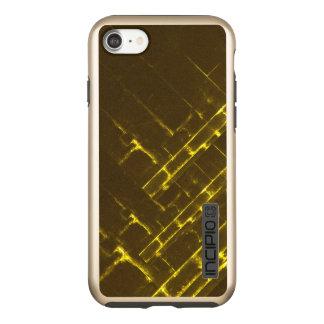Rustic Brown Yellow Geometric Batik Weave Modern Incipio DualPro Shine iPhone 8/7 Case