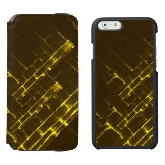 Rustic Brown Yellow Geometric Batik Weave Modern Incipio Watson™ iPhone 6 Wallet Case