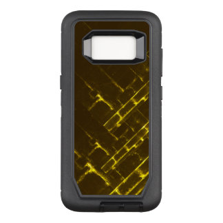 Rustic Brown Yellow Geometric Batik Weave Modern OtterBox Defender Samsung Galaxy S8 Case