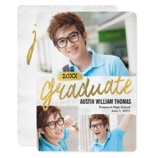 Rustic Brush Graduation Announcement Invitation