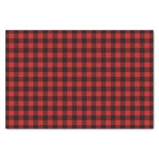 Rustic Buffalo Plaid Christmas Holiday Pattern Tissue Paper