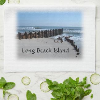 Rustic Bulkhead on Beach Kitchen Towel