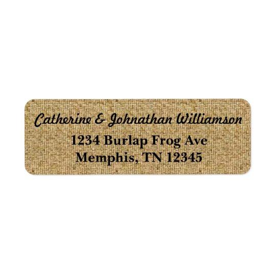 Rustic Burlap Address Labels