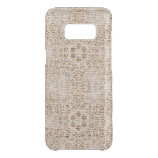 Rustic Burlap and Lace Uncommon Samsung Galaxy S8 Case