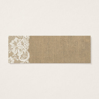 Rustic Burlap and Lace Wedding Place Card