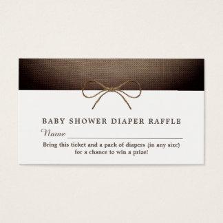 Rustic Burlap Bow, Raffle Ticket