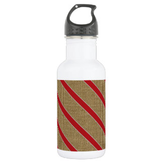 Rustic Burlap Candy Cane 532 Ml Water Bottle
