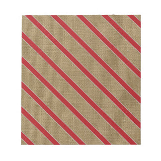 Rustic Burlap Candy Cane Notepad