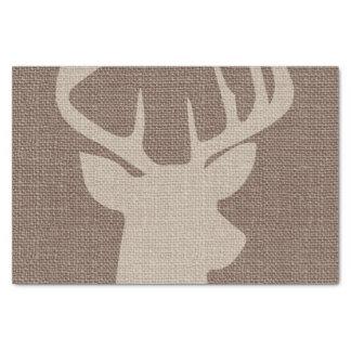 Rustic Burlap Deer Buck   Tissue Paper