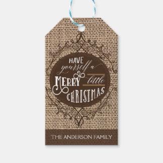 Rustic burlap gift tags