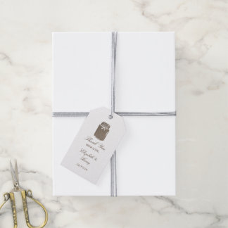 Rustic Burlap Mason Jar Wedding Gift Tags