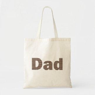 Rustic Burlap Weave Pattern Dad Tote Bags