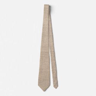 Rustic Burlap Wedding Personalized Tie
