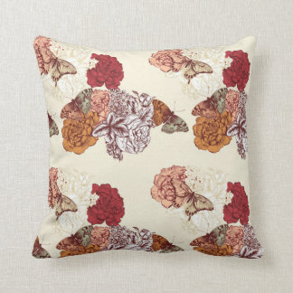 Rustic Butterfly Pattern Throw Pillow