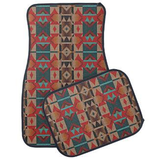 Rustic Cabin American Native Indian Mosaic Pattern Auto Mat