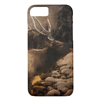 Rustic cabin cottage forest mountain elk iPhone 8/7 case