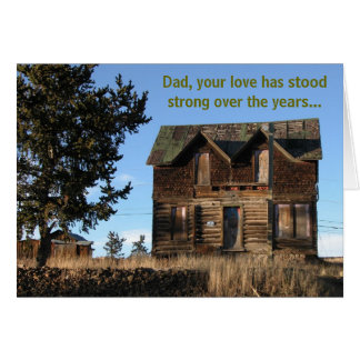 Rustic Cabin Dad's Day Card