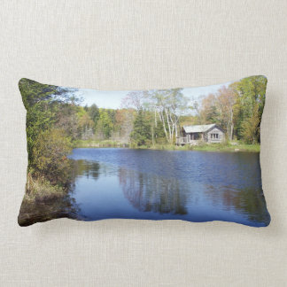 Rustic Cabin on Water Lumbar Pillow