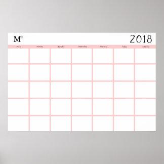 Rustic Calendar : Poster