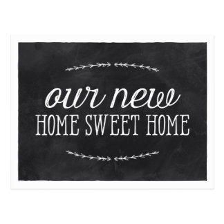Rustic Calligraphy | New Home Postcard