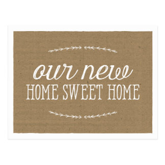 Rustic Calligraphy | New Home Postcards