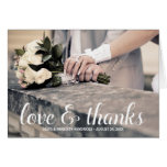 Rustic Calligraphy | Photo Thank You Cards