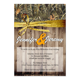 Rustic Camo and Twine Wedding Invitation