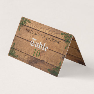 Rustic Celtic Claddagh Folded Place Card