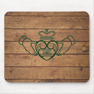 Rustic Celtic Claddagh Mouse Pad