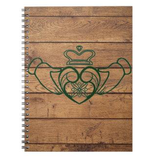 Rustic Celtic Claddagh Notebook