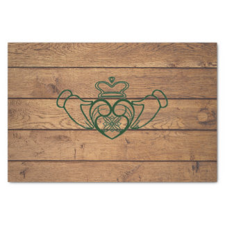 Rustic Celtic Claddagh Tissue Paper