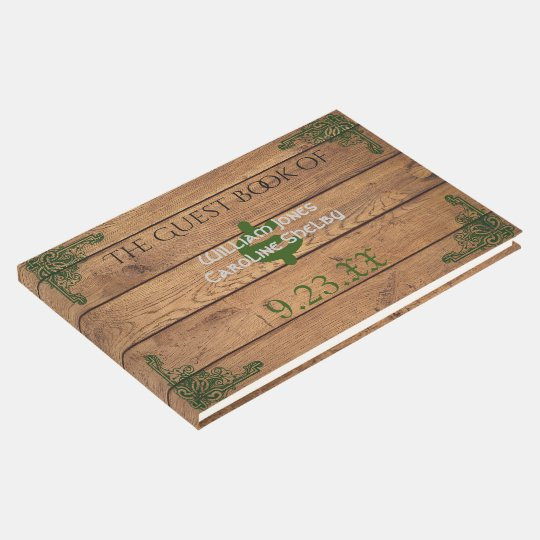 Rustic Celtic Claddagh Wedding Guest Book