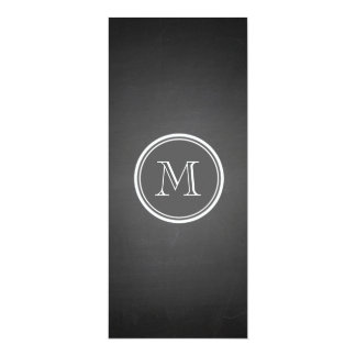 Rustic Chalkboard Background Monogram 4x9.25 Paper Invitation Card