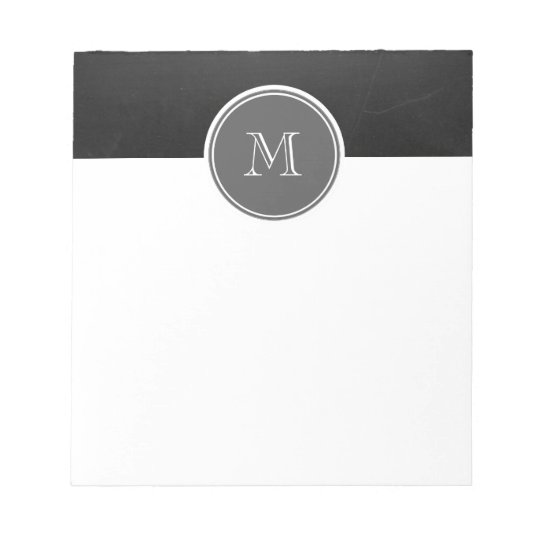 Rustic Chalkboard Background Monogram Notepad