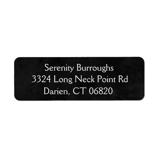 Rustic Chalkboard Black And White Address Name
