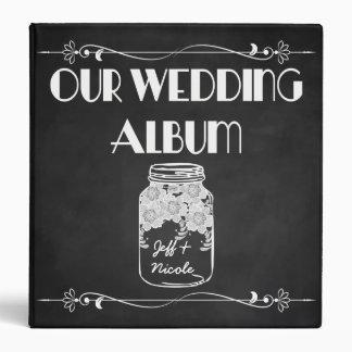Rustic Chalkboard Mason Jar Wedding Photo Album Vinyl Binders