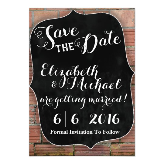 Rustic Chalkboard Save the Date Magnetic Invitations