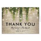 Rustic Chateau Stone Church Wedding Thank You Card