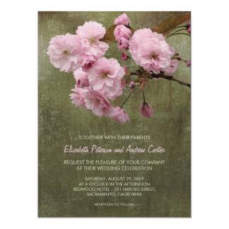 "Rustic Cherry Blossom Floral Wedding 6.5"" x 8.75"" 6.5"" X 8.75"" Invitation Card"