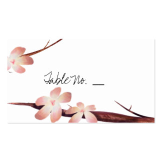 Rustic Cherry Blossom - Wedding Guest Escort Cards Business Card Template