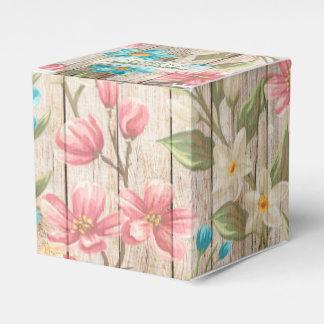 Rustic Chic Floral Favor Box