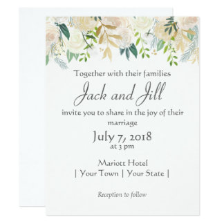 Rustic Chic Floral Print Card