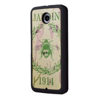 rustic chic french country lavender vintage bee wood phone case
