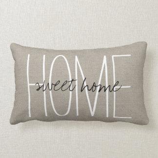 Rustic Chic Home Sweet Home Lumbar Pillow
