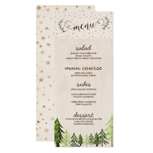 Rustic Chic Menu Cards for a Forest Wedding